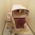 トイレタンクを外す
