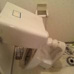 トイレ解体作業
